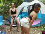 Besties enjoyed camping and group sex in the tent