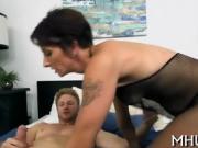 Dude seduces MILF for sex