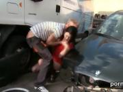Enchanting teen gets seduced and rode by her fella