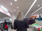 Glamorous czech girl gets seduced in the shopping centre and