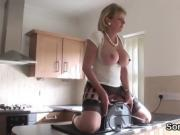Cheating english milf lady sonia presents her big jugs