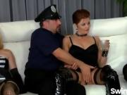 Horny swinger couples strip and fuck