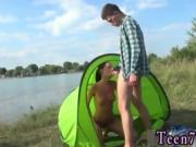 Teen girl rope bondage Eveline getting fucked on camping site