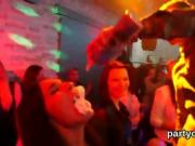Hot girls get absolutely insane and stripped at hardcore part