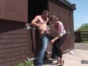 Unfaithful british milf gill ellis flaunts her massive hooter