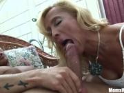 Blonde Mature With A Round Booty Rides Cock