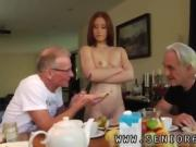 Old man blonde girl and granny first time Minnie Manga eats b