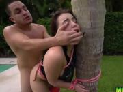 Kylie Quinn pounded hard in a rough outdoor sex