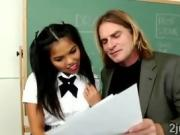Teacher gives little Cindy a hard exam to help her pass
