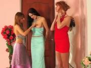 Teasing Teen Finally Eats Out Two Hot Girls