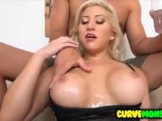 Hottie Cristi Ann gets oiled up for dickdown