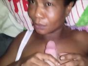 Ebony MILF Jizzed on her face