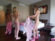 Morning hardcore sex with Three Lovley ladies