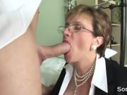Unfaithful british mature lady sonia presents her massive mel