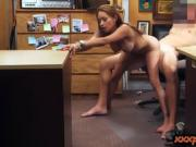 Big boobs Latina gets fucked by pawn guy at the pawnshop