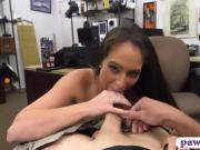 Hot amateur woman railed by pawn keeper at the pawnshop