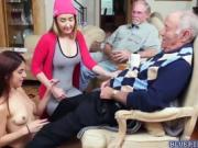 Teen Gigi and Sally fucks with old neighbors
