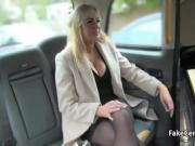 Chubby milf jump on cock in taxi