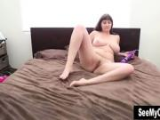 Curvy Milf Buzzes Her Clit With Plenty Of Power