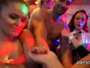 Kinky chicks get completely crazy and naked at hardcore party