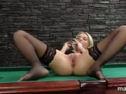 Horny czech kitten stretches her spread snatch to the special