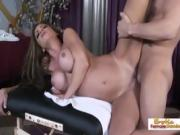 Fucking A Big Tit Girl On A Massage Table