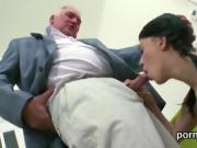 Sultry schoolgirl was tempted and poked by her older teacher