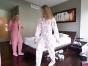 Lovely sexy Bestfriends gets horny on the bed at home
