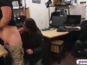 Horny pawn guy fucked woman with glasses at the pawnshop