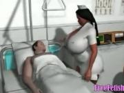 3D Nurse with Gigantic Tits - FreeFetishTVcom