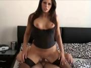 Stunning brunette cougar having sex
