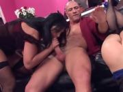 Hot threesome in shop