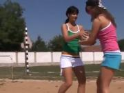 Anal dildo man first time Sporty teens gobbling each other