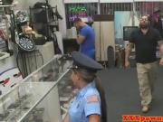 Gorgeous Police Officer Gets Fucked In The Store