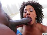 Ebony babe Misty Stone fucks a gigantic black erection