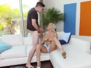 Perfect Tits Blonde Sucks And Fuck Long Cock Kylie Page