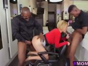 Interracial Milf Threesome Doggy Anal Blowjob Blonde