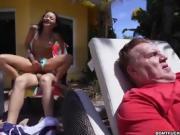 Juan Largo fuck girl behind her dad's back