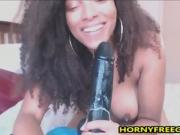 Big Ass Ebony Sloppy Deepthroat On BBC Dildo