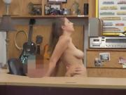 Blonde Ivy Rose Riding Dick And Taking Facial In Pawn Shop