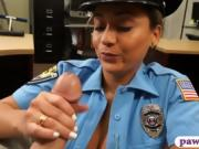 Latin police officer banged by pawn dude for some money