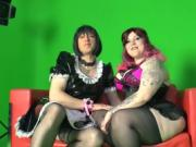 SextapeGermany - Amateur man dressed as maid fucks German BBW