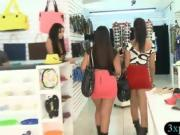 Random girls showing off ass and boobs for some money