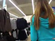 Perfect czech kitten gets seduced in the mall and pounded in