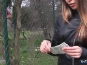 Mona Kim flashes tits n fucked in public