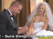 sexy bride gets drilled