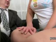 Sultry college girl is tempted and poked by her elder teacher