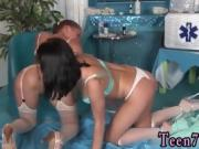 Thai teen girl and blonde lesbian facesitting Horny youthful