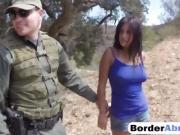 Sexy Latina teen drilled hard at the border