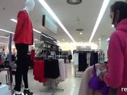 Adorable czech chick was seduced in the mall and banged in po